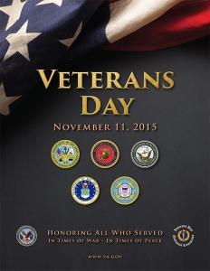 Veterans Day 2015 poster